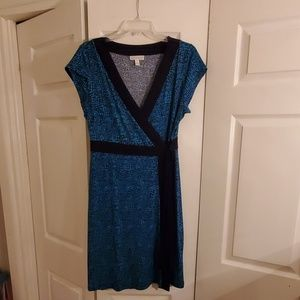 Dana Buchman- Aqua & Black Dress- never worn